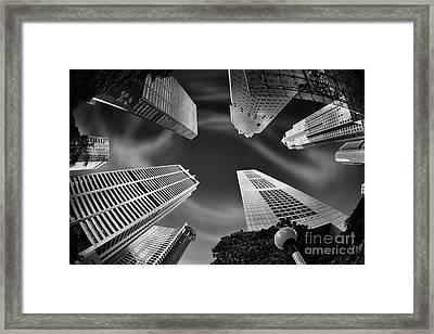 Skyscraper Swirl Framed Print by Rod McLean