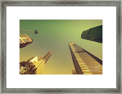 Framed Print featuring the photograph Skyscraper by Yew Kwang
