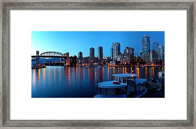 Skyscrapers At The Waterfront, Burrard Framed Print by Panoramic Images
