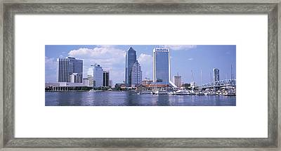 Skyscrapers At The Waterfront, Main Framed Print by Panoramic Images