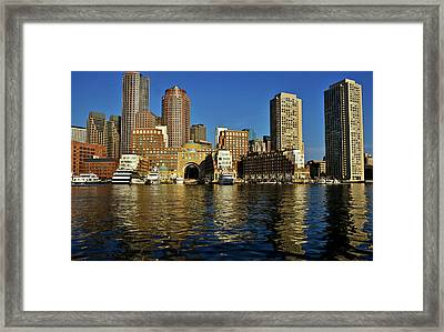 Skyscrapers At The Waterfront, Rowes Framed Print by Panoramic Images