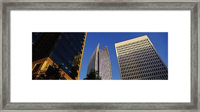 Skyscrapers In A City, Atlanta, Fulton Framed Print by Panoramic Images