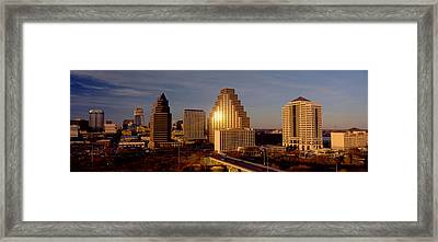Skyscrapers In A City, Austin, Texas Framed Print by Panoramic Images