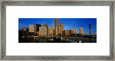 Skyscrapers In A City, Boston Framed Print by Panoramic Images