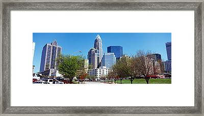 Skyscrapers In A City, Charlotte Framed Print