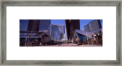 Skyscrapers In A City, Citycenter, The Framed Print