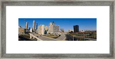 Skyscrapers In A City, Cityscape Framed Print by Panoramic Images