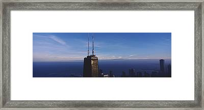 Skyscrapers In A City, Hancock Framed Print by Panoramic Images