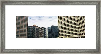 Skyscrapers In A City, Hyatt Regency Framed Print by Panoramic Images