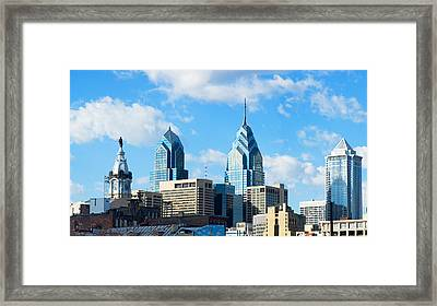 Skyscrapers In A City, Liberty Place Framed Print by Panoramic Images