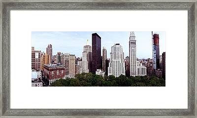 Skyscrapers In A City, Madison Square Framed Print by Panoramic Images
