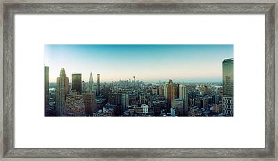 Skyscrapers In A City, Midtown Framed Print