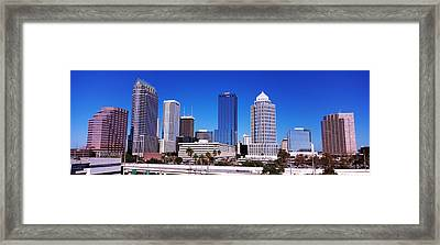 Skyscrapers In A City, Tampa, Florida Framed Print by Panoramic Images