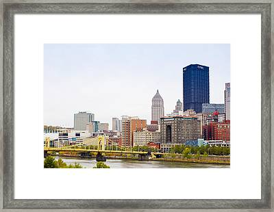 Skyscrapers In A City, Tenth Street Framed Print by Panoramic Images