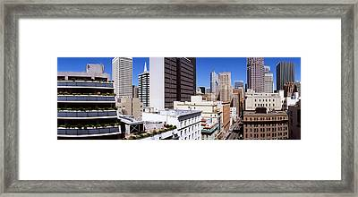 Skyscrapers In A City Viewed From Union Framed Print
