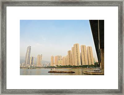 Skyscrapers In Hong Kong Framed Print