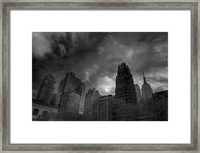 Skyscrapers Framed Print by Mike Horvath