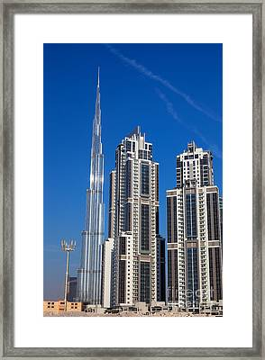 Skyscrapers On Dubai  Framed Print