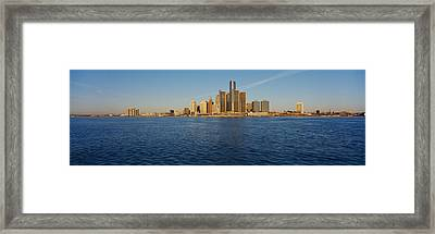 Skyscrapers On The Waterfront, Detroit Framed Print
