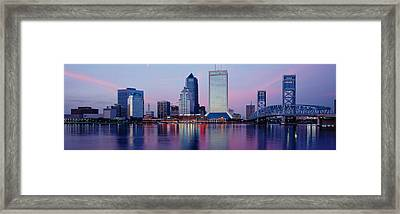 Skyscrapers On The Waterfront, St Framed Print by Panoramic Images