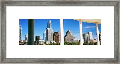 Skyscrapers Viewed From The Long Center Framed Print by Panoramic Images