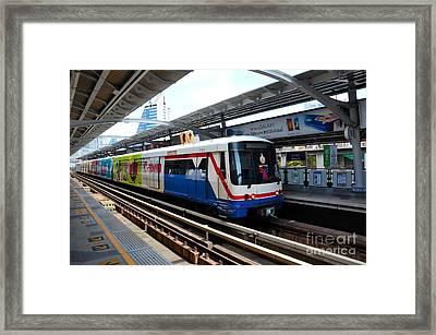 Skytrain Carriage Metro Railway At Nana Station Bangkok Thailand Framed Print by Imran Ahmed