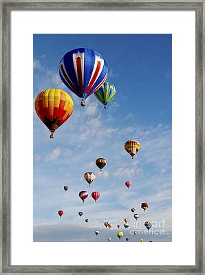 Framed Print featuring the photograph Skyward Bound by Gina Savage