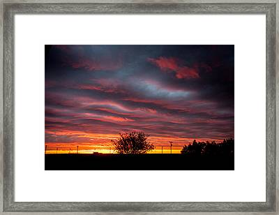 Framed Print featuring the photograph Skywaves In Pink by Shirley Heier