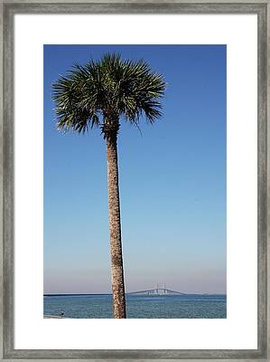 Sunshine Skyway Bridge  Framed Print by Christiane Schulze Art And Photography
