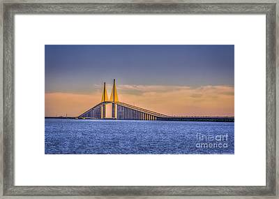 Skyway Bridge Framed Print by Marvin Spates