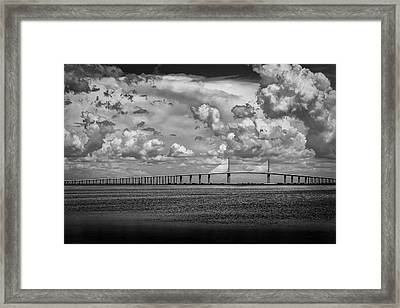 Skyway Clouds Framed Print by Marvin Spates