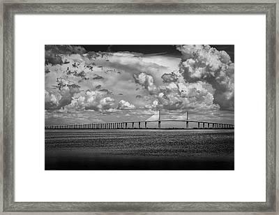 Skyway Clouds Framed Print