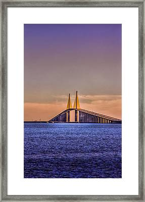 Skyway Sunset Framed Print by Marvin Spates