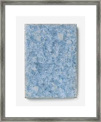 Slab Of Blue Marble Framed Print by Dorling Kindersley/uig