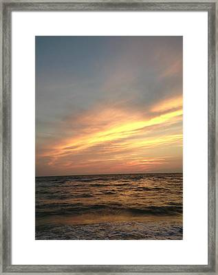 Slanted Setting Framed Print by K Simmons Luna