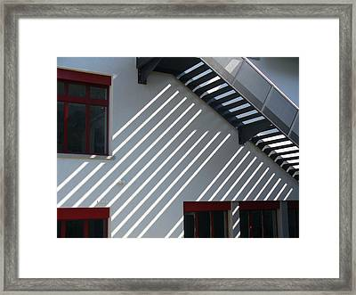 Slanting Sunlight Framed Print