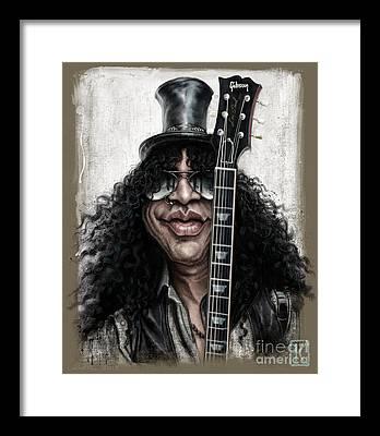 Rock Music Guns N Roses Framed Prints