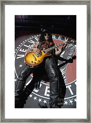 Slash Guitarist Framed Print