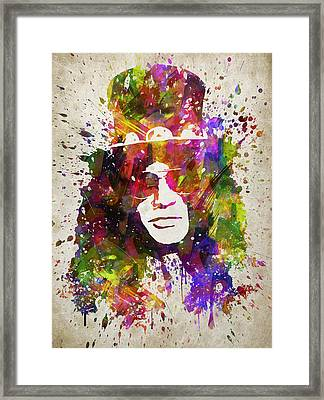 Slash In Color Framed Print by Aged Pixel