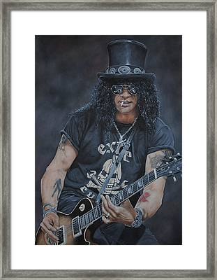 Slash Live Framed Print by David Dunne