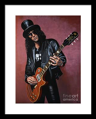 Slash Framed Prints