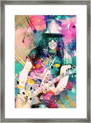 Slash Framed Print by Rosalina Atanasova
