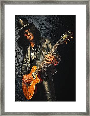 Slash Framed Print by Taylan Apukovska