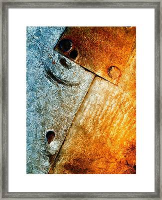 Slate Gray 2 Framed Print by Tom Druin