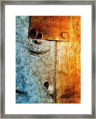 Slate Gray Framed Print by Tom Druin