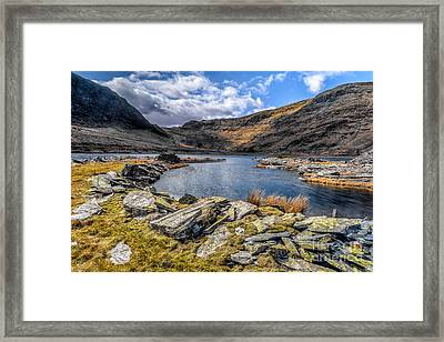 Slate Valley Framed Print by Adrian Evans