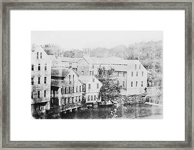 Slater Cotton Mill Framed Print