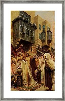 Slave Auction Framed Print
