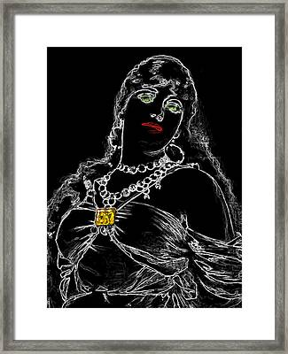 Slave Girl One Man Ray Homage Framed Print by Brian King