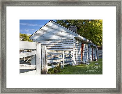 Slave Huts On Southern Farm Framed Print